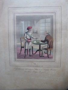 A gentleman delivering a Letter to a Soontah - Burdar, or Silver Baton Bearer.