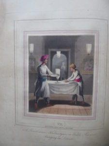 A Gentleman's Kedmutgars, or Table Servants, bringing in Dinner
