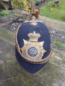 The Northamptonshire Regiment. An officer's Victorian home pattern helmet