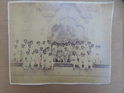 BARODA. A good photographic group of Maharaja Sayajirao Gaekwad III, probably 1890s.