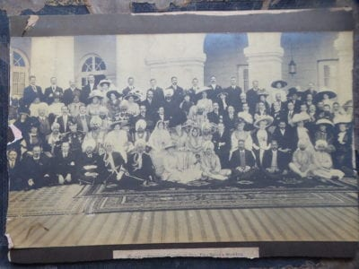 Patiala. A royal wedding group, early 20th century