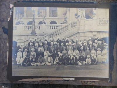 Patiala. A group of important guest at a Garden Party at the Palace in Patiala