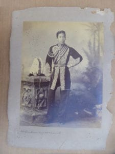 Hill Tipperah, a large late 19th century portrait of a Prince