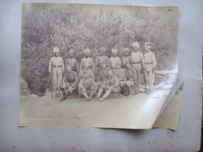 The Black Mountain Expedition in Hazara 1888. Brigade Commander General William Galbraith with Staff