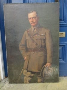 A lieutenant colonel of Yeomanry: a large oil portrait by George Henry
