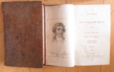 The Works of Sir William Jones, 1807 edition lacking vol 3 of 13 volumes