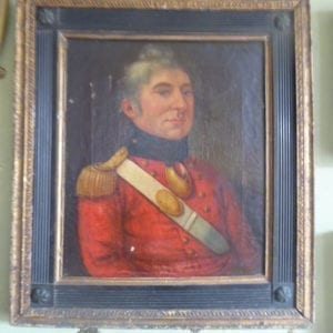 Late George III period portrait of an infantry officer