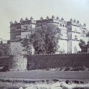 Orchha: Views of the Fort Palace and the Bundela Mausolea by Raja Deen Dayal