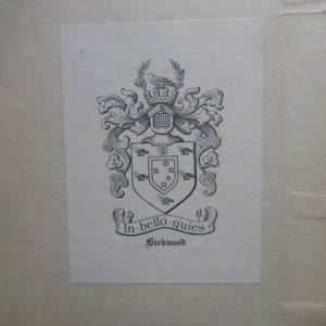Field Marshal Lord Birdwood's copy of the standard biography of Lord Curzon.