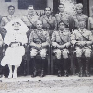 Indian Military Hospital, Poona, 16th March 1937. Officers and Matron