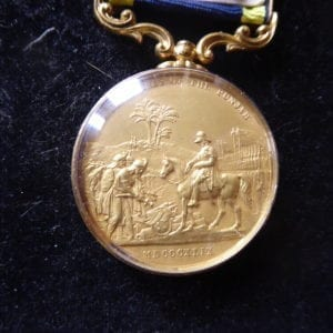 Punjab Medal 1848-49. A glazed silver gilt specimen in extremely fine condition.