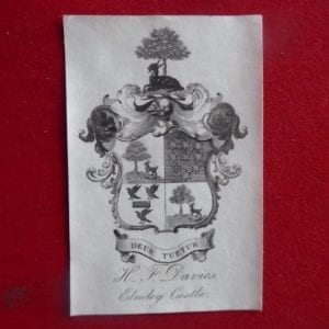 Colonel Henry Fanshawe Davies, Grenadier Guards. An armorial bookplate.