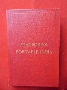 STANFORD'S PORTABLE INDIA. A fine folding map of  India and its neighbours.