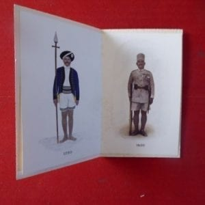 Q.V.O. Madras Sappers and Miners. a 1930's embossed greetings card