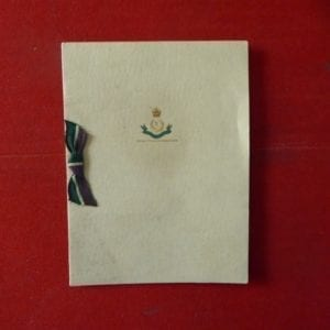 1st Bn Queen Mary's Own Baluch Regt. An embossed greetings card of the 1930s
