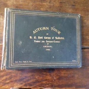 Lord Curzon's Autumn Tour of 1900. The covers [only] of a photograph album by Raja Deen Dayal