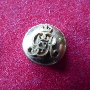 Gilt button worn by Viceregal staff in evening dress, small size 20mm