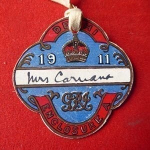 Delhi Durbar 1911. Admission badge for Enclosure A.