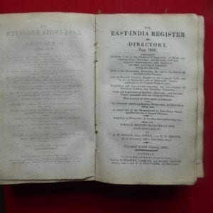 East India Register for 1823, Bound with illustrated Peerage and Baronetage.