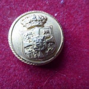 Denmark. A fine gilt uniform button with the royal arms of Denmark beneath a crown