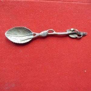 Silver gilt teaspoon in Natualistic style, 1853