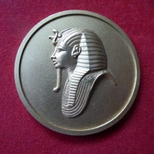Discovery of Tutankhamun's tomb in 1922. A fiftieth anniversary commemorative medal