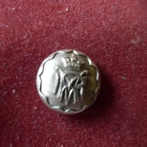 Malabar Rifel Volunteers, small silver plated button/