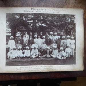 H H Raja of Chamba, grooup photograph