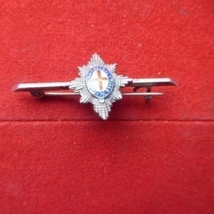Coldstream Guards silver and enamel tie pin