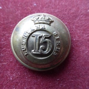 15th Ludhiana Sikhs, large size officer's 26 mm button.