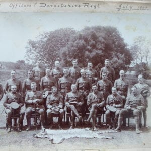 1st Dorsetshire Regt. The officers photographed in 1907