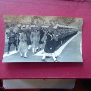 Gwalior. H H Maharaja Scindia inspecting a guard of honour