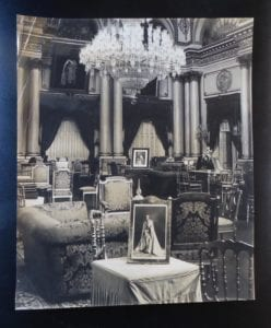 Gwalior. The Durbar Hall in the 1930s / 40s