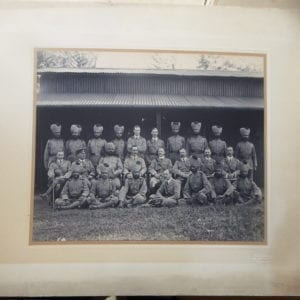 Ceylon. Military group portrait by Plate & Co
