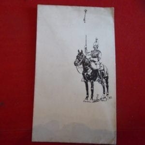Household cavalry pen and ink drawing