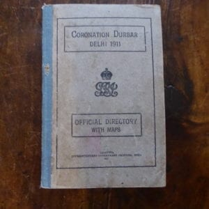 Delhi Durbar 1911. Official Directory to the Coronation Durbar