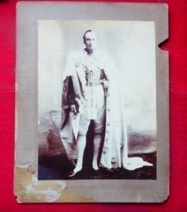 Lord Curzon in Star of India robes 1903.