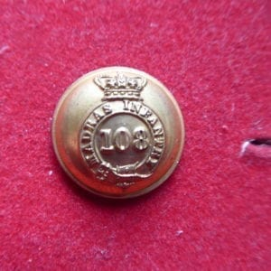 108th Madras Infantry, officer's button, 26mm