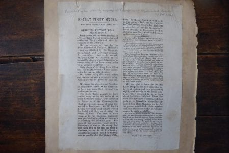 FEROZEPORE, 1846. A contemorary announcement of a British victory against the Sikhs in the Sutlej Campaign.
