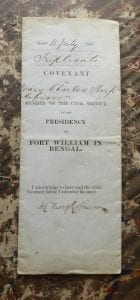 ICS. A covenant for the Bengal Presidency, 1871