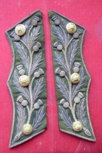 Royal Company of Archers, court dress coatee skirt ornaments with gilt buttons