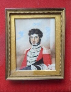 J E Ford: A high ranking officer wearing a Waterloo Medal, early 19th century