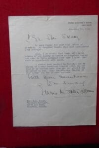 Mountbatten of Burma, A letter signed by the last Vicereine, Edwina Countess Mountbatten