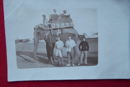 A rajah's elephant with 10th Hussars near Indore