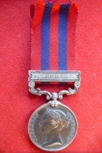 India General Service Medal 1854 with clasp Waziristan 1894-5
