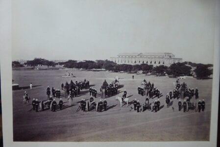 Gwalior. A Royal Artillery elephant battery, 1881