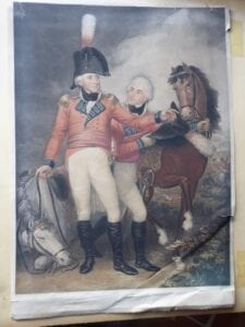 General Lord Lake and his son at the battle of Laswari in 1803