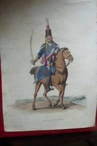 Hussar Officer, a coloured portrait of 1805