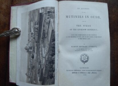 Contemporary account  of the Mutinies in Oudh & Lucknow, 1858