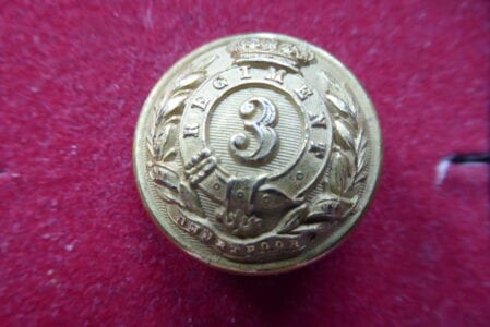 3rd Bengal European Infantry, officer's 26mm button